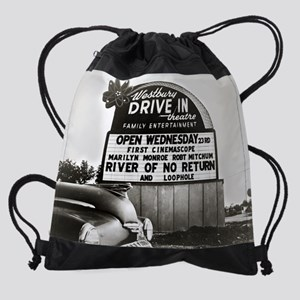 Drive-In Theater Marquee, 1954 Drawstring Bag