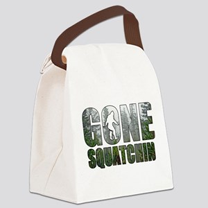 Gone Squatchin deep woods Canvas Lunch Bag