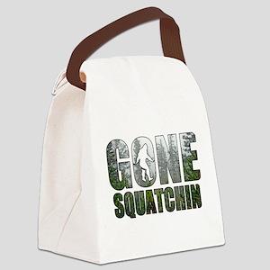 Gone Squatchin deep woods Canvas Lunch Bag