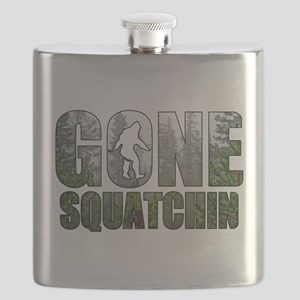 Gone Squatchin deep woods Flask