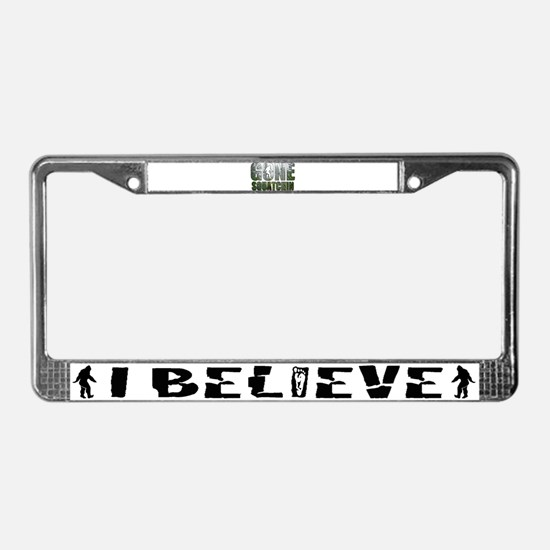 Gone Squatchin deep woods License Plate Frame