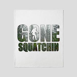 Gone Squatchin deep woods Throw Blanket