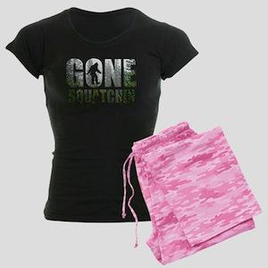 Gone Squatchin deep woods Women's Dark Pajamas
