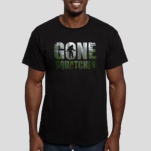 Gone Squatchin deep woods Men's Fitted T-Shirt (da
