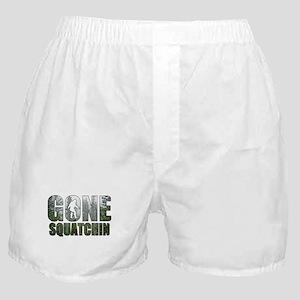 Gone Squatchin deep woods Boxer Shorts