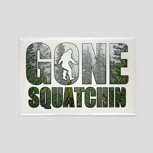 Gone Squatchin deep woods Rectangle Magnet