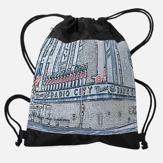 RadioCity16x20.jpg Drawstring Bag