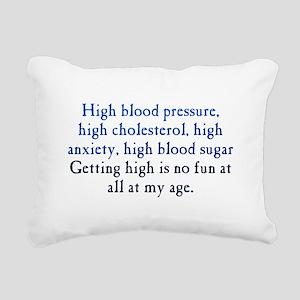 Old Age High Rectangular Canvas Pillow
