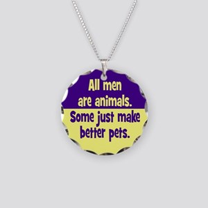 Men as Pets Necklace Circle Charm