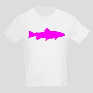 Pink Trout Outline T-Shirt