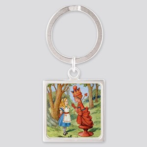 Alice and the Red Queen Square Keychain