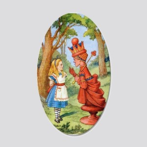 Alice and the Red Queen 20x12 Oval Wall Decal