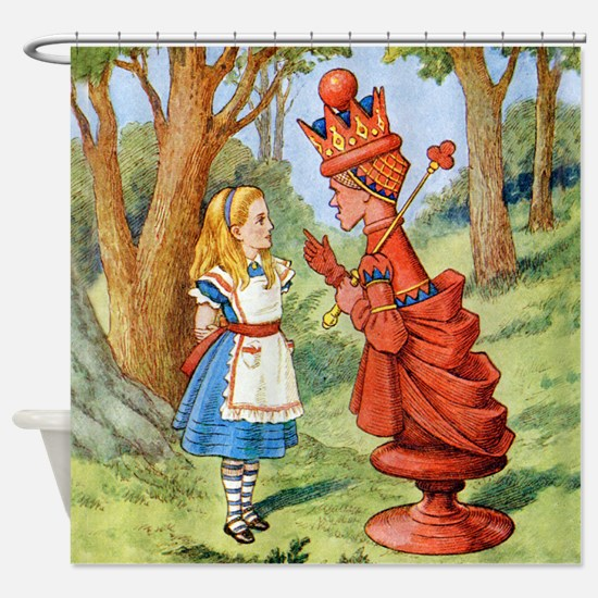 Alice and the Red Queen Shower Curtain