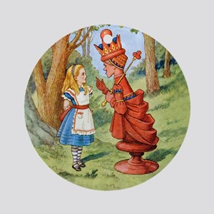 Alice and the Red Queen Ornament (Round)