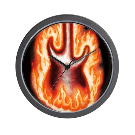 Engulfed in Flames - Wall Clock