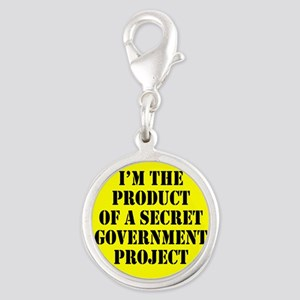 Product of Government Silver Round Charm