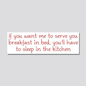 Breakfast in Bed Car Magnet 10 x 3