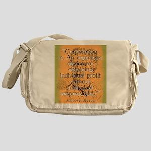 Corporation - Bierce Messenger Bag