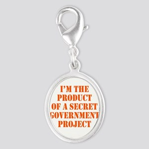 Product of Government Silver Oval Charm