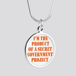 Product of Government Silver Round Necklace