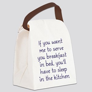 Breakfast in Bed Canvas Lunch Bag