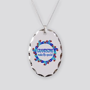 Grandsons are Special Necklace Oval Charm