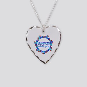 Grandsons are Special Necklace Heart Charm