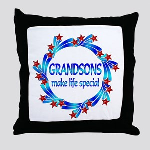 Grandsons are Special Throw Pillow
