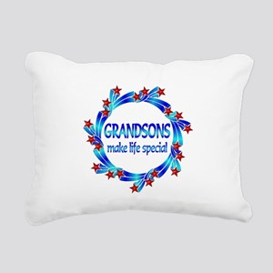 Grandsons are Special Rectangular Canvas Pillow