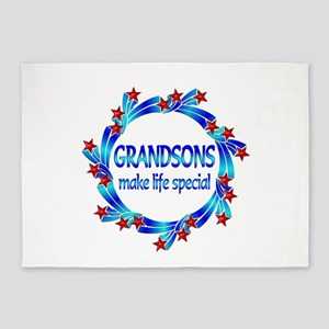 Grandsons are Special 5'x7'Area Rug