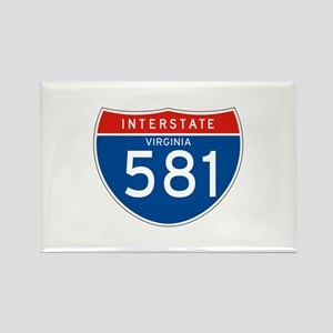 Interstate 581 - VA Rectangle Magnet