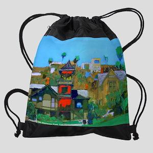Houses On Heritage Park Drawstring Bag
