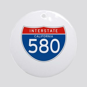 Interstate 580 - CA Ornament (Round)