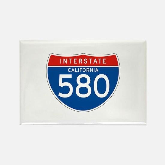 Interstate 580 - CA Rectangle Magnet