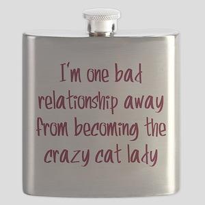 Crazy Cat Lady Flask