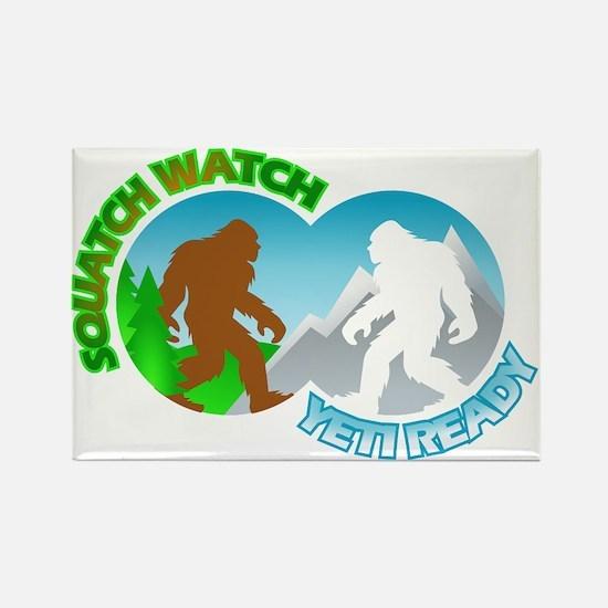 Sasquatch Yeti Match Up Rectangle Magnet