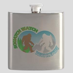 Sasquatch Yeti Match Up Flask