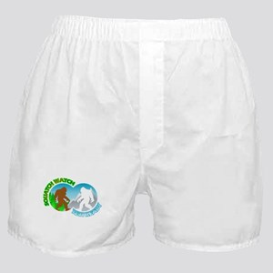 Sasquatch Yeti Match Up Boxer Shorts