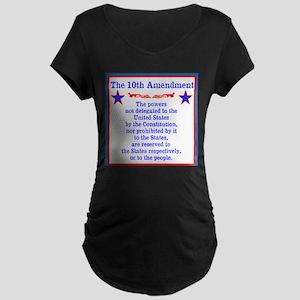 The 10th AMENDMENT Maternity Dark T-Shirt