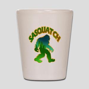 Sasquatch Forest Scene Shot Glass