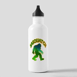 Sasquatch Forest Scene Water Bottle