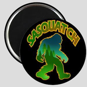 Sasquatch Forest Scene Magnet