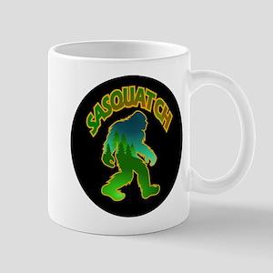 Sasquatch Forest Scene Mug