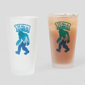Yeti Mountain Scene Drinking Glass