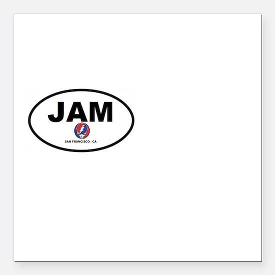 "Jam San Francisco Square Car Magnet 3"" x 3"""