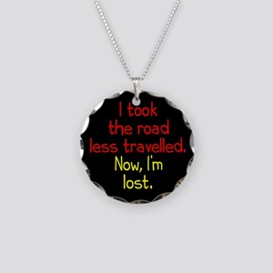 Road Less Travelled Necklace Circle Charm