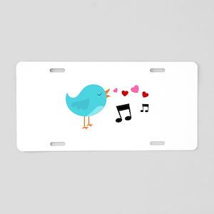 Singing Blue Bird Aluminum License Plate