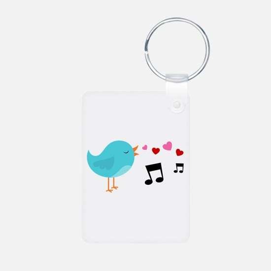 Singing Blue Bird Keychains