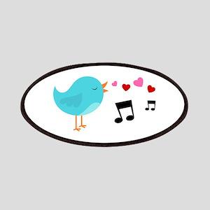 Singing Blue Bird Patches