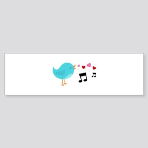 Singing Blue Bird Bumper Sticker
